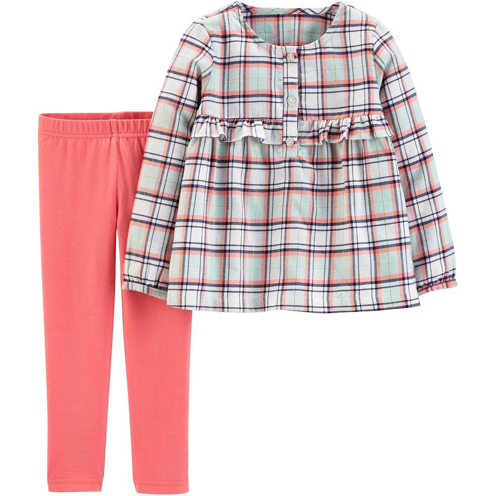 Baby Girl Carter's 2-Piece Plaid Flannel Top & Legging Set