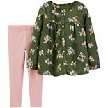 Baby Girl Carter's 2-Piece Floral Viscose Top & Legging Set