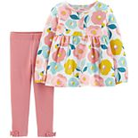 Baby Girl Carter's 2-Piece Floral Top & Legging Set