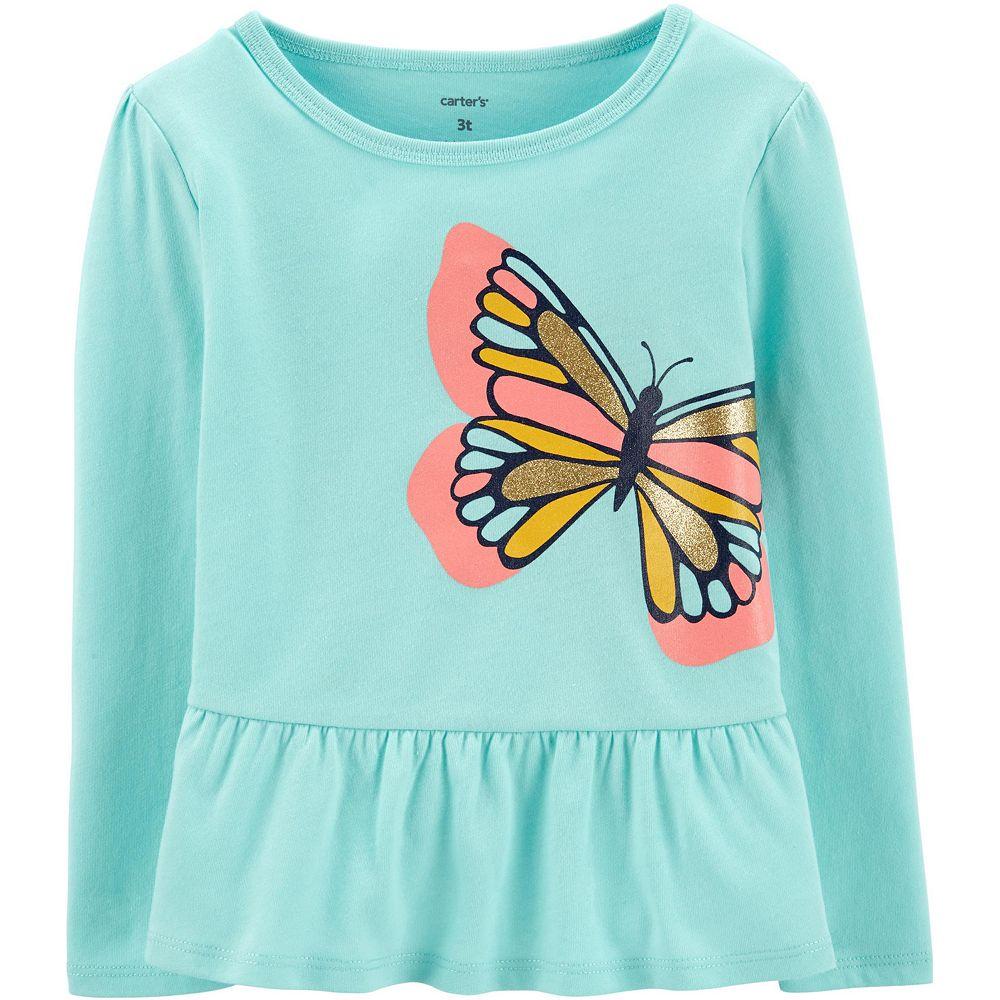 Baby Girl Carter's Glitter Butterfly Peplum Top