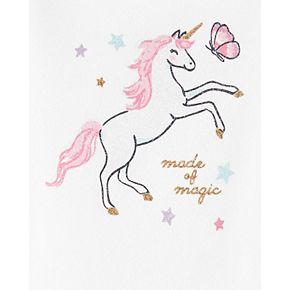 Baby Girl Carter's Glitter Unicorn Bodysuit