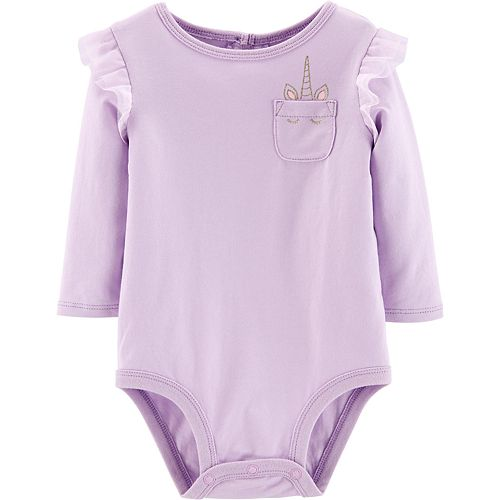 Baby Girl Carter's Unicorn Pocket Bodysuit