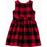 Toddler Girl Carter's Buffalo Check Holiday Dress