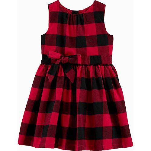 Toddler Girl Carter's Buffalo Check Holiday Dress