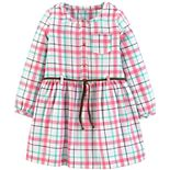 Toddler Girl Carter's Plaid Twill Dress