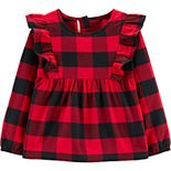 Toddler Girl Carter's Buffalo Check Twill Top