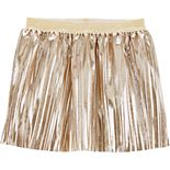 Toddler Girl Carter's Metallic Pleated Skirt