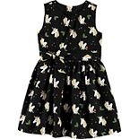 Toddler Girl Carter's Holiday Unicorn Twill Dress