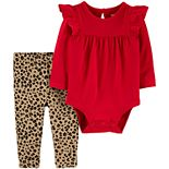 Baby Girl Carter's 2-Piece Holiday Bodysuit Pant Set