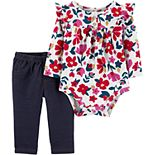 Baby Girl Carter's 2-Piece Floral Bodysuit Pant Set
