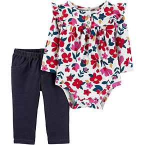 Baby Girl Carter's 2-Piece Floral Bodysuit Pant Set
