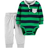 Baby Boy Carter's 2-Piece Henley Bodysuit Pant Set