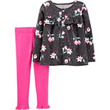 Toddler Girls Carter's 2-Piece Floral Top & Legging Set