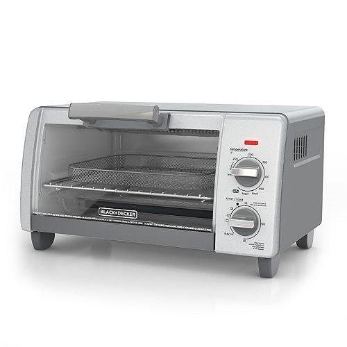 Black Amp Decker Crisp N Bake Air Fry 4 Slice Toaster Oven