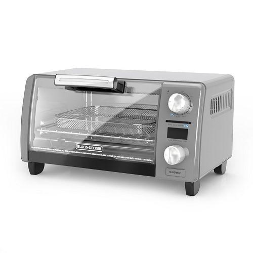 Black Amp Decker Crisp N Bake Air Fry Digital 4 Slice