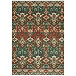 StyleHaven Alistar Tribal Traditions Teal Rug
