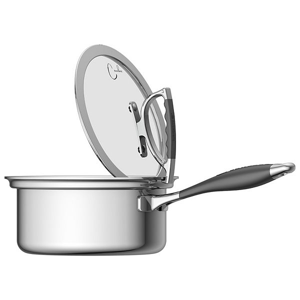 Cookcraft By Candace 3 Qt Saucepan With Glass Latch Lid