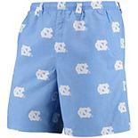 """Men's Columbia PFG Carolina Blue North Carolina Tar Heels Backcast II 8"""" Omni-Shade Hybrid Shorts"""