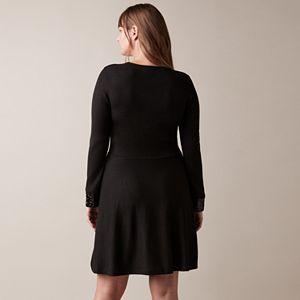 Women's JW Jason Wu Fit & Flare Sweater Dress