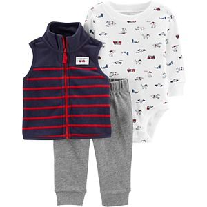 Baby Boy Carter's 3-Piece Striped Vest Set