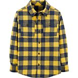 Boy's Carter's Plaid Twill Button-Front Shirt