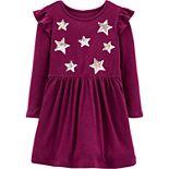 Toddler Girl Carter's Glitter Star Jersey Dress