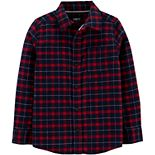 Boys 4-14 OshKosh B'gosh® Plaid Button-Front Shirt