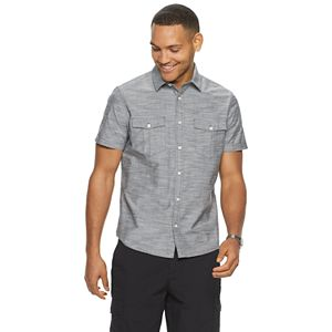 Men's Apt. 9® Untucked Regular-Fit Textured Button-Down Shirt