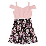 Girls 7-16 Speechless Cold Shoulder Dress And Pleated Floral Skirt