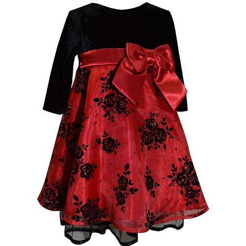 Baby Girl Blueberi Boulevard Floral Embroidered Dress