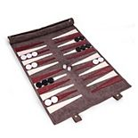 Roll-up Backgammon Travel Set by Bey-Burk