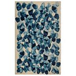 RugSmith Faded Moon Contemporary Modern Rug