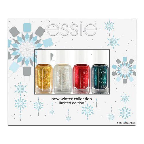 essie 4-Piece Holiday Mini Nail Polish Set