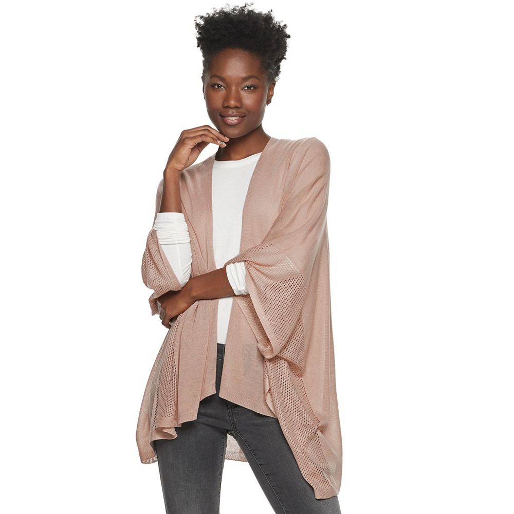 Women's SONOMA Goods for Life® Mixed Knit Ruana Topper
