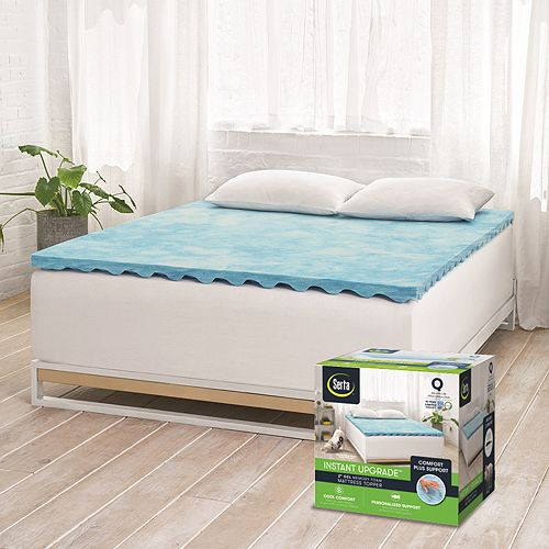 Serta Instant Upgrade Gel Memory Foam Mattress Topper