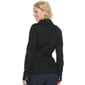 Petite SONOMA Goods for Life® Twill Moto Jacket
