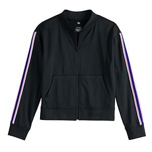 Girls 7-16 SO Zip Up Track Jacket