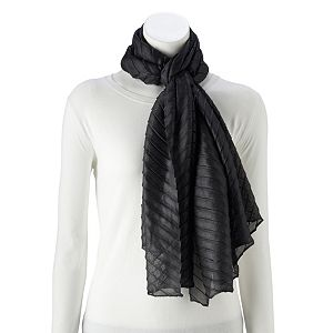 Women's Apt. 9® Solid Pleated Wrap Scarf