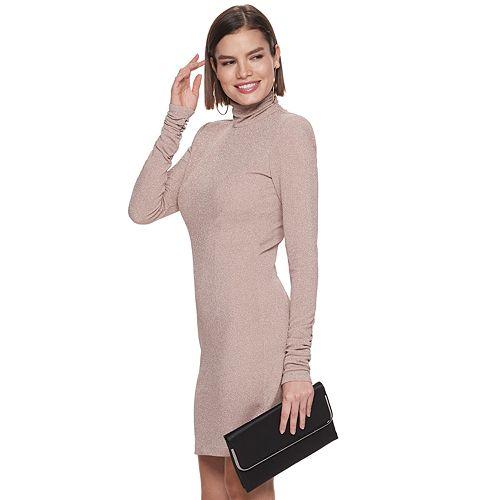 Women's Jennifer Lopez Fitted Turtleneck Dress