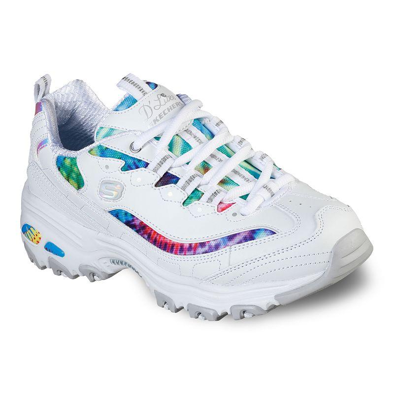 Skechers D'Lites Summer Fiesta Women's Sneakers, Size: 6.5 Wide, White