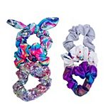 Sequin Unicorn & Chrome Scrunchie Set