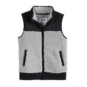 Boys' 4-12 SONOMA Goods for Life Blocked Sherpa Vest