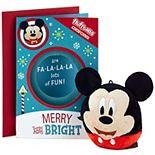 Hallmark Disney Mickey Mouse Kids Christmas Card with Plush Toy