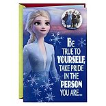 Hallmark Disney's Frozen Christmas Card with Removable Frozen Pin