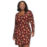 Juniors' Plus Size SO® Crewneck Bodycon Dress