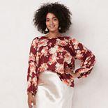 Plus Size LC Lauren Conrad Bell Sleeve Blouse