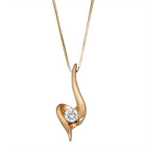 Sirena Collection 1/8 Carat Diamond Heart Pendant Necklace