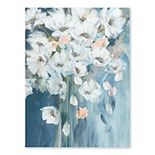Artissimo Bouquet of White Poppies Canvas Wall Art