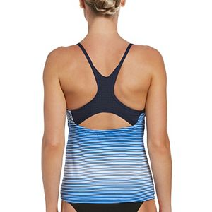 Women's Nike Textured Stripe Racerback Tankini Top