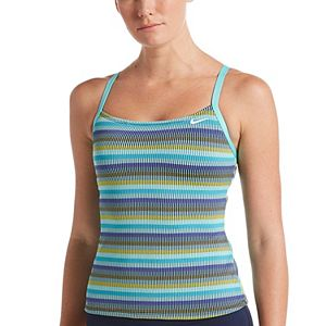 Women's Nike Textured Stripe Racerback Tankini Top